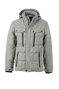 Sportovní pánská zimní bunda JN1102 - Stříbrná | L